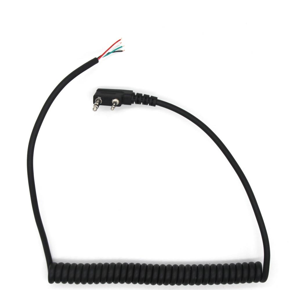 Динамик mic walkie talkie кабель для динамика baofeng uv5r kenwood