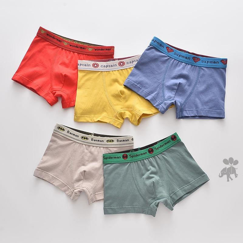 Children Underwear Boys Panties Cotton Boxer Children Briefs For Boy Shorts Baby Panties Kids Underwear 2020 New Size 2-16T/5pcs
