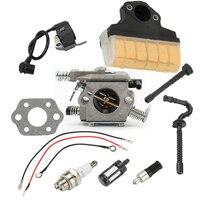 Spark plug Carburetor kit Ignition Coil Oil Line For stihl MS230 021 023
