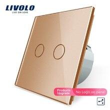 Livolo EU Wall-Light-Switch Control 2-Gang Standard in 2-Way Golden-Color 12/15 Manufacturer