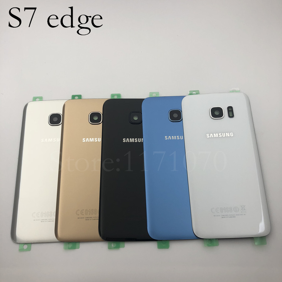 S7 Battery Back Cover Glass For Samsung Galaxy S7 G930 G930F SM-G930F S7 Edge G935F G935 Back Battery Cover Glass Housing