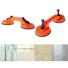 Premium Quality Heavy Duty Ceramic glass suction cup Double Handle Glass Puller Lifter Gripper Sucker Double Cups Glass Tile Suc(China)