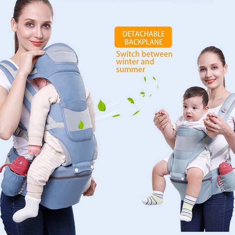 Top SaleBaby Hipseat Carrier Ergo Baby Carrier Front Facing Ergonomic Kangaroo Baby Wrap Sling for Baby Travel 0-2 Years 15 Using Ways