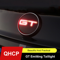 QHCP Car LED Trunk Badge Emblem Lights Brake Red Lamp Flashing For Ford Mustang 2015 2016 2017 2018 2019 2020 Exterior Accessory
