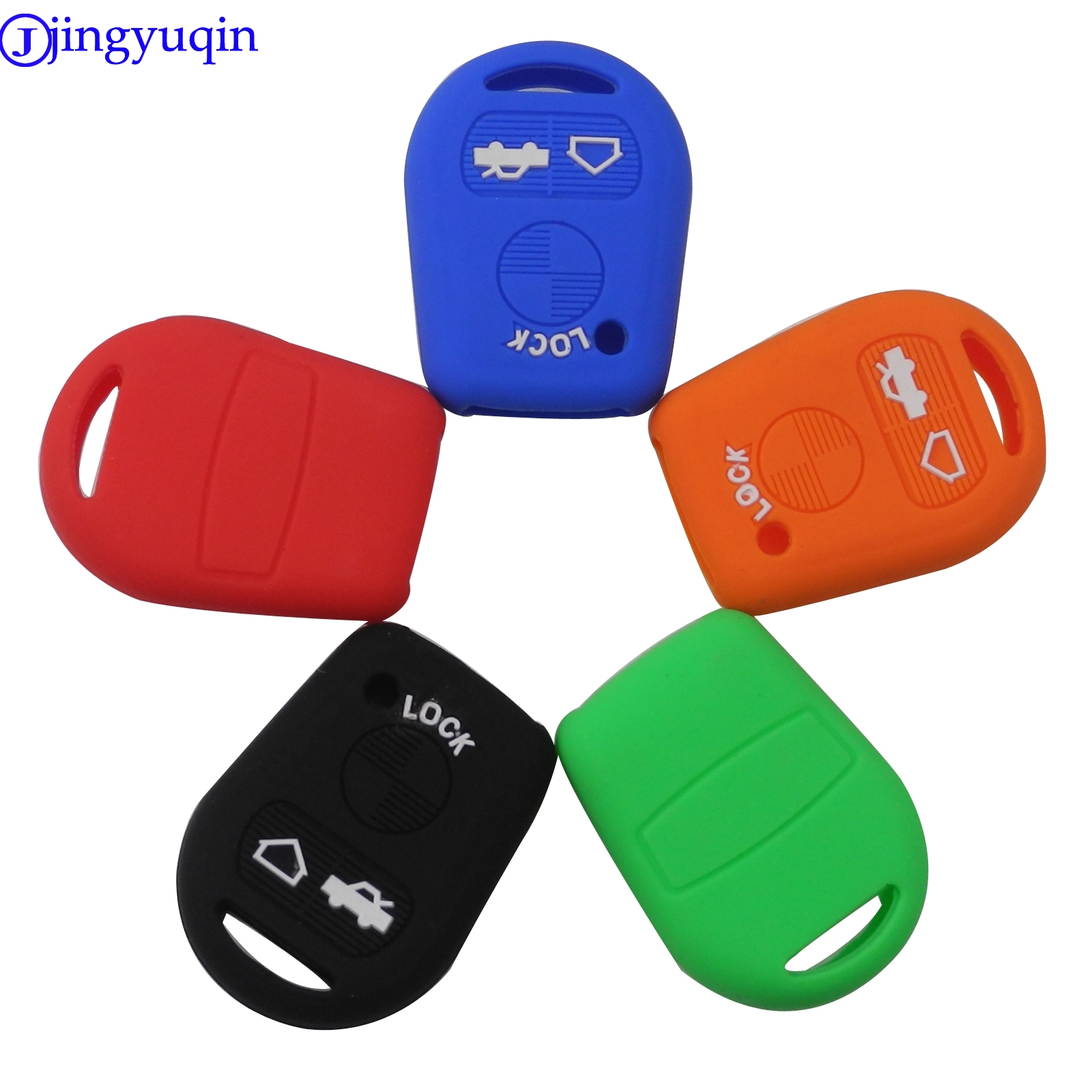 Jingyuqin 3 Buttons Silicone Remote Car Key Cover Case Fob For BMW E31 E32 E34 E36 E38 E39 E46 Z3 Z4