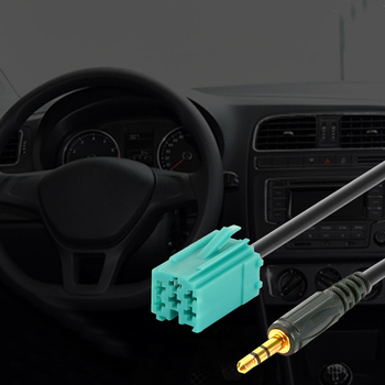 3.5mm AUX CD Stereo Audio Line Input Cable For Renault Clio Megane Espace Kangoo Laguna 2005 2006 2007 2008 2009 2010 2011 Car