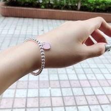 Цельные 100% настоящие 925 пробы серебряные браслеты из бисера