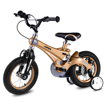 Light kids bike magnesium alloy children bicycle with Training Wheels gift for children kids bicycle boy and girl children bike cheap Aluminum Alloy Kids Bike 50kg Keine Dämpfung Front V brake rear disc brake 12 14 16inch 80-140cm 85-113cm Ordinary Pedal