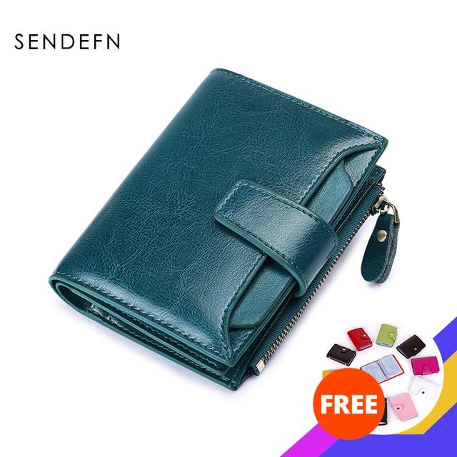$ US $13.11 SENDEFN Women's Wallet Leather Small Luxury Brand Wallet Women Short Zipper Ladies Coin Purse Card Holder Femme Red/Blue 5191-69