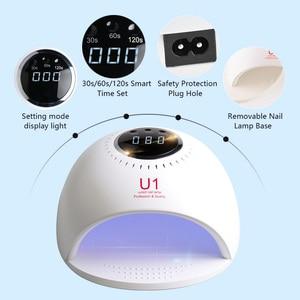 Image 3 - CANNI 84W LED lamba hızlı kuru UV lamba kurutma 30 s/60 s/120 s tırnak lambası tırnak kurutucu jel oje için