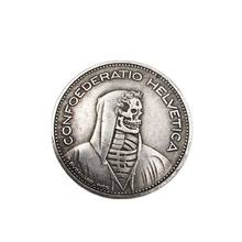 Crafts Switzerland Hobo Coin Wanderer Skull 5 FR 1965 Commemorative Coin Collection Souvenirs Home Decoration Gifts