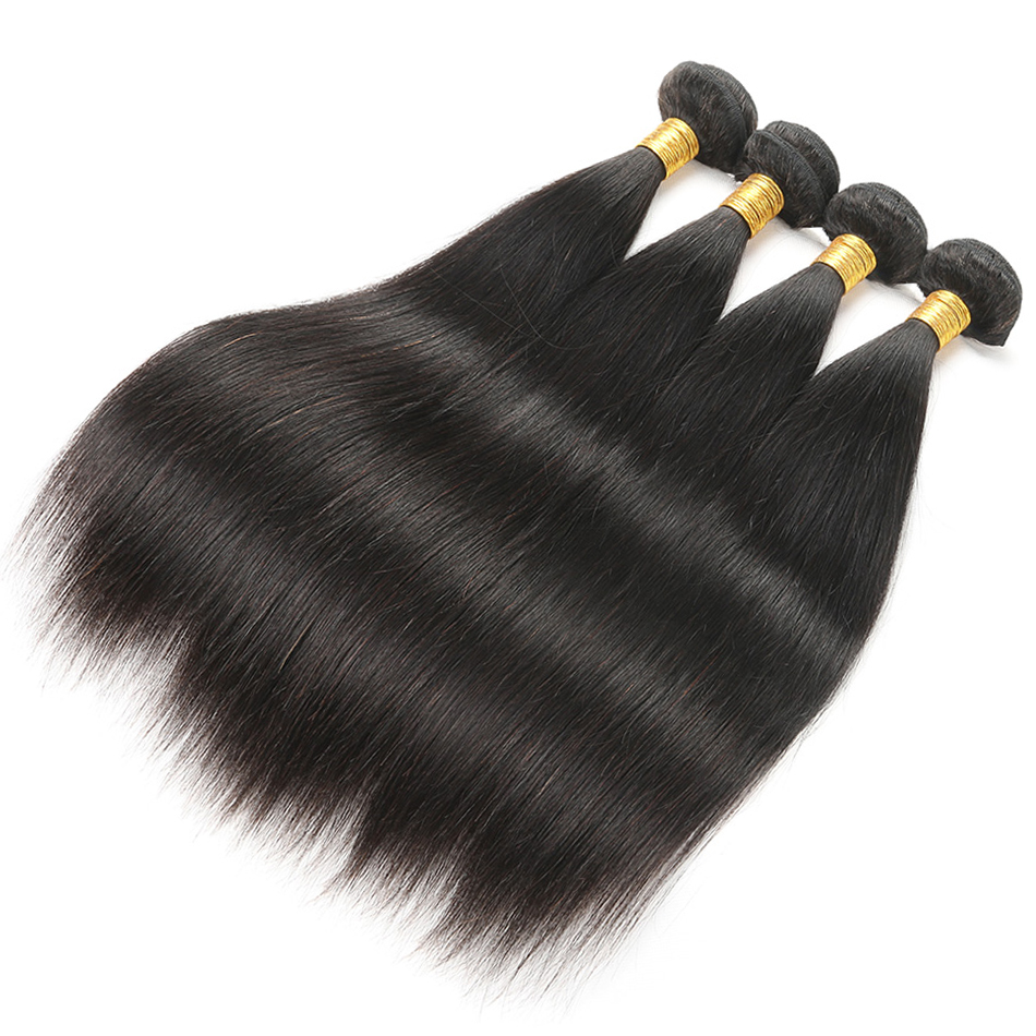 straight human hair bundles with lace closure brazilian hair lace closure with bundles 6