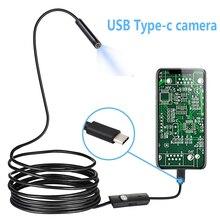 USB Schlange Inspektion Kamera HD IP67 Wasserdichte USB C Endoskop Typ C Umfang Kamera 1M 2M Flexible kabel für Android Smartphone