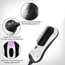 2 in 1 Multifunctional Hair Dryer Infrared Hair Brush Hot Air  Styler Comb Styling Straightening Curling Iron for Travel Home SM