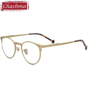 Round Progressive Men Pure Titanium Glasses Top Quality Retro Optical Prescription Recipe Frame