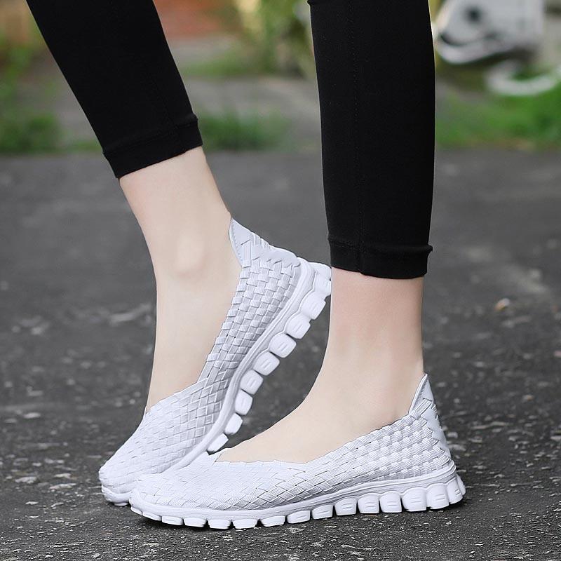 Slip-on Women's White Tennis Women Baskets Sneakers Woman Sports Shoes Sport Running Shoe Summer Training Footwear Jogging A-405