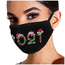 Mulher reutilizável furadeira ao ar livre respirável moda gelo à prova de vento máscara carta e-lement strass padrão máscara dustproof d7