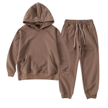 Boys Hoodie Set Terry Cotton Girls Sport Suit 2021 Spring New Sweatshirt Sweatpants Two Pieces Kids Tracksuit Child Clothing Set