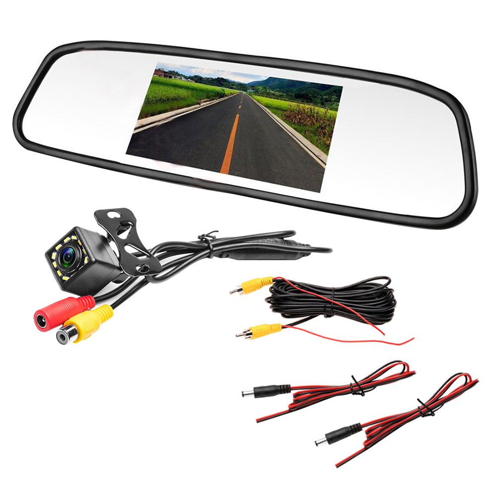 Автомобиль Ccd Видео Авто для парковочной системы, светодиодный свет, ночного реверсивная камера заднего вида Ccd с 4,3 дюймов Автомобильный Зе...