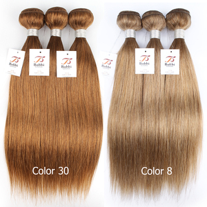 Image 5 - Bobbi Collection 1 Bundle Dark Brown 1B 27 Ombre Honey Blonde Indian Hair Weave Straight Human Hair Weft Non Remy Hair Extension
