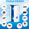 Ультразвуковая Электроника от москитов лампа наружная Бытовая многофункциональная насекомых против тараканов подавитель UK/US/EU вилка