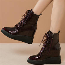 Модные кроссовки; Женская обувь из натуральной кожи на шнуровке