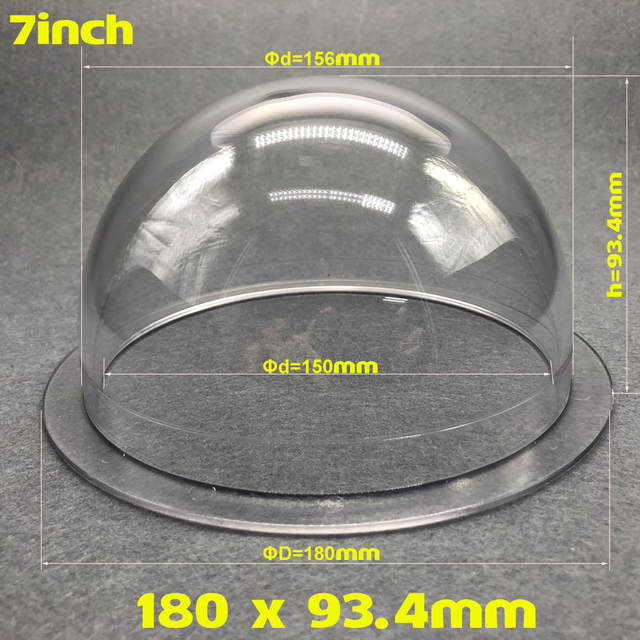 OwlCat Acrylic Dome 7inch Clear Thick Hemisphere Plastic Domes and Spheres 180mm x 93.4mm