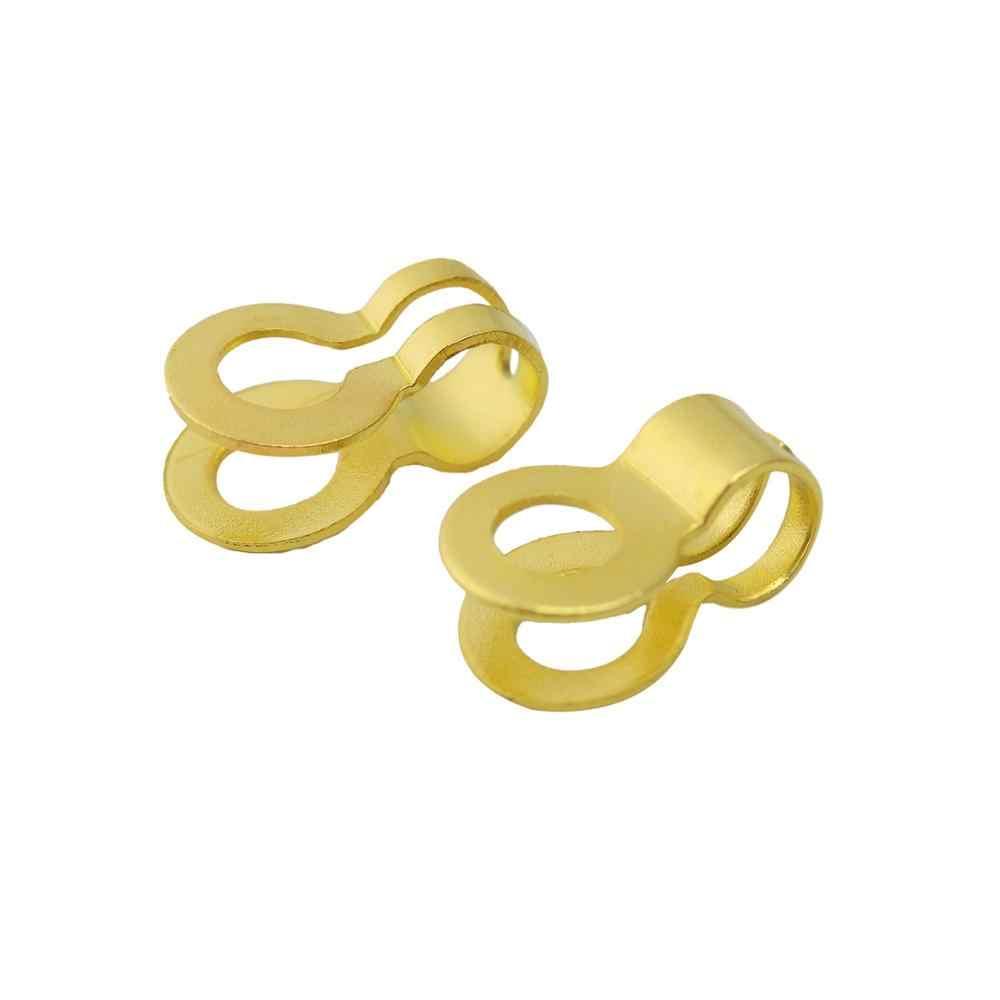 100 pçs/lote 2.4/3.2/4.5/6/8/10mm Liga de Ferro Fim Crimps Beads Duplo buraco Bola Cadeia Connector Fecho Para Mulheres Que Fazem Jóias