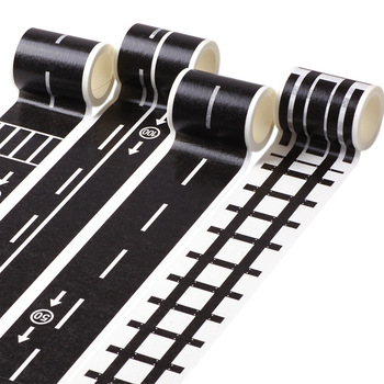 1 pcs Creative Traffic Road Tape Car/train/curve Sticker for Kids DIY Puzzle Toy Scrapbooking Sticker Adhesive Label Tape
