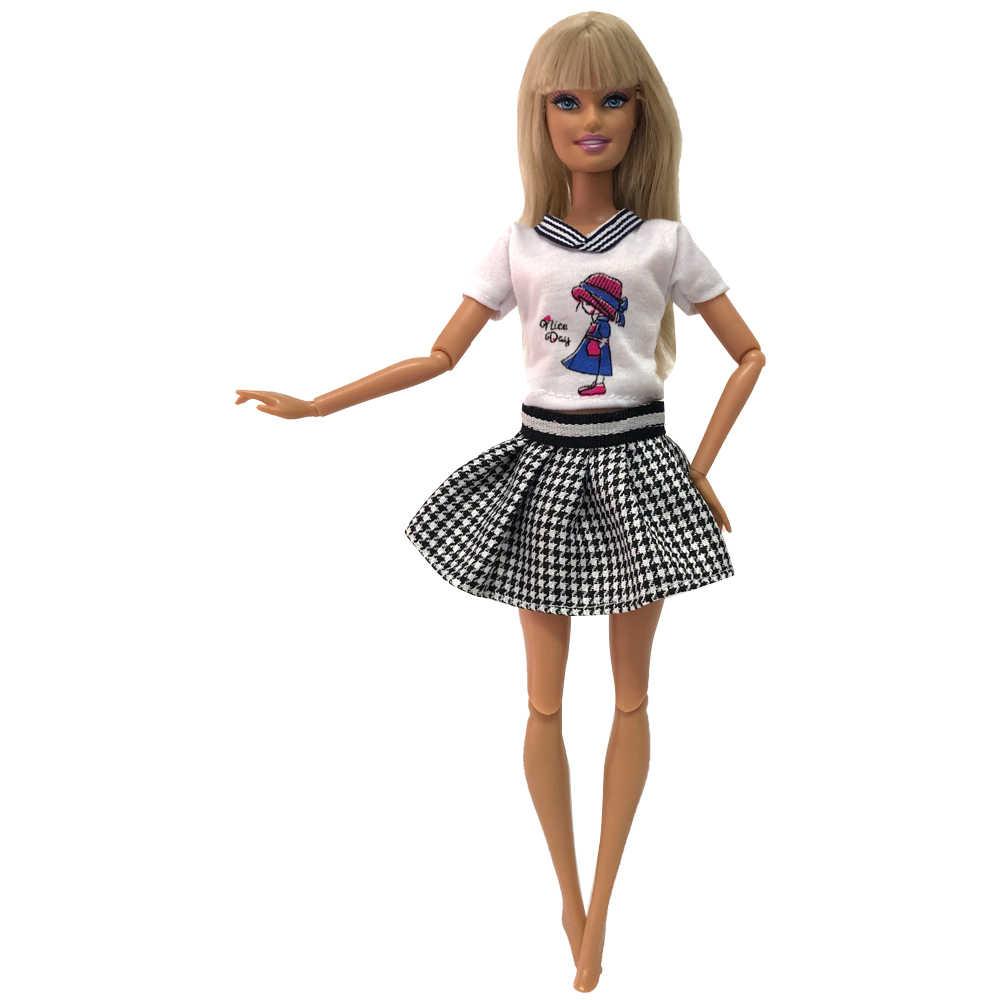 Nk vestido artesanal para boneca, vestido de boneca para meninas, roupas de festa, vestido moderno para barbie, acessórios, presente de criança 279e 12x