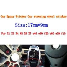 10pcs Moda Nova Decoração Do Carro Adesivo Decalque Para BMW M E34 E36 E60 E90 E46 E39 E70 F10 F20 F30 X5 X6 X1 M3 M5 M6 E71 F01 F02