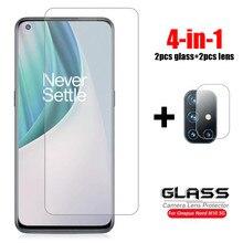 4 em 1 para vidro Oneplus Nord N10 5G vidro temperado One Plus Nord N100 lente Caerma protetor de tela filme para telefone Oneplus Nord N10