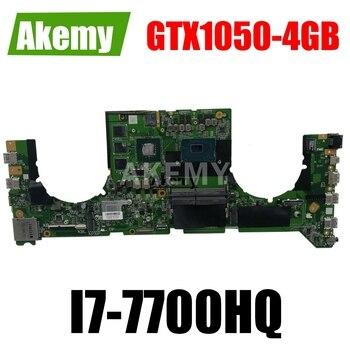 Akemy DABKNMB28A0 Laptop motherboard For Asus ROG Strix GL703VD GL703V original mainboard I7-7700HQ GTX1050