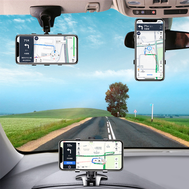 ANMONE Dashboard Car Phone Holder 360 Degree Mobile phone Stands Rearview Mirror Sun Visor In Car GPS Navigation Bracket 1