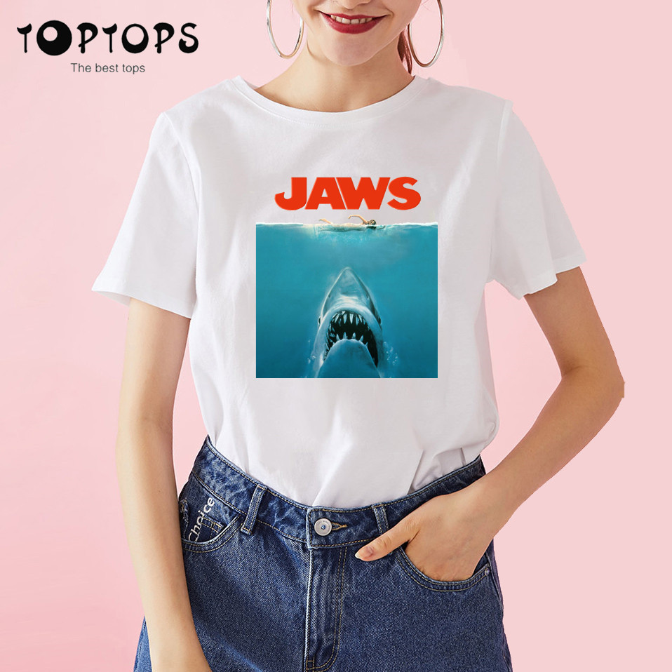 Amity Island Welcomes You Jaws 70s Film Quints Movie Vintage Retro TShirt 402