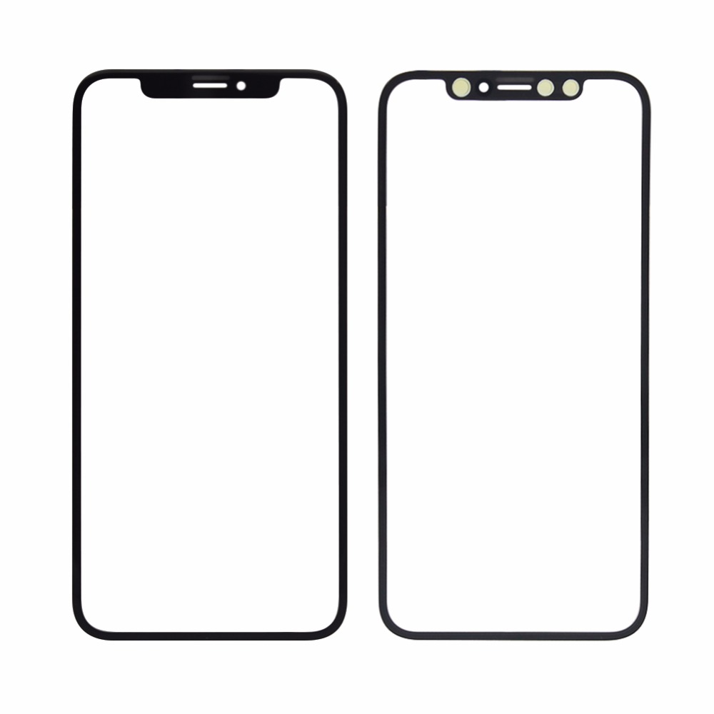 LCD glass For iphone X Black/White Front Outer Screen Glass Lens For iphone X iPhone 6 7 7plus 8 mobile phone cover plate image