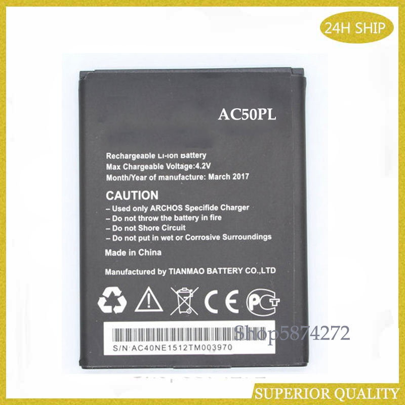 battery AC50PL 4GReplacement Battery for Archos 50 Platinum cellphone battery
