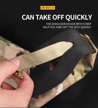 Tactical JPC 2.0 Vest Assault Lightweight Combat Vest Adjustable Vest Military Army Molle Hunting Plate Carrier 3