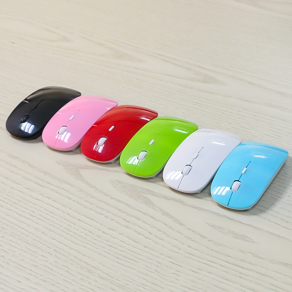 Image 3 - kebidumei 2.4Ghz USB Optical Wireless Mice Mouse Super Slim Thin Mouse Gaming With Receiver Mini For Macbook PC Laptop Computer-in Mice from Computer & Office