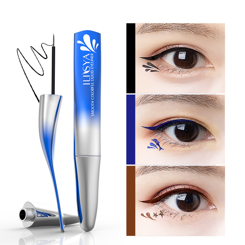ILISYA Waterproof Liquid Eye Liner Pencil Long Lasting Dolphin Shape Smudge-Proof Eyeliner Beauty Makeup