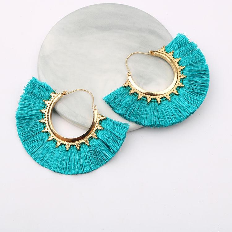 Round Tassel Earrings for Women Jewelry Drop Dangle Earrings Pendientes Mujer Moda...