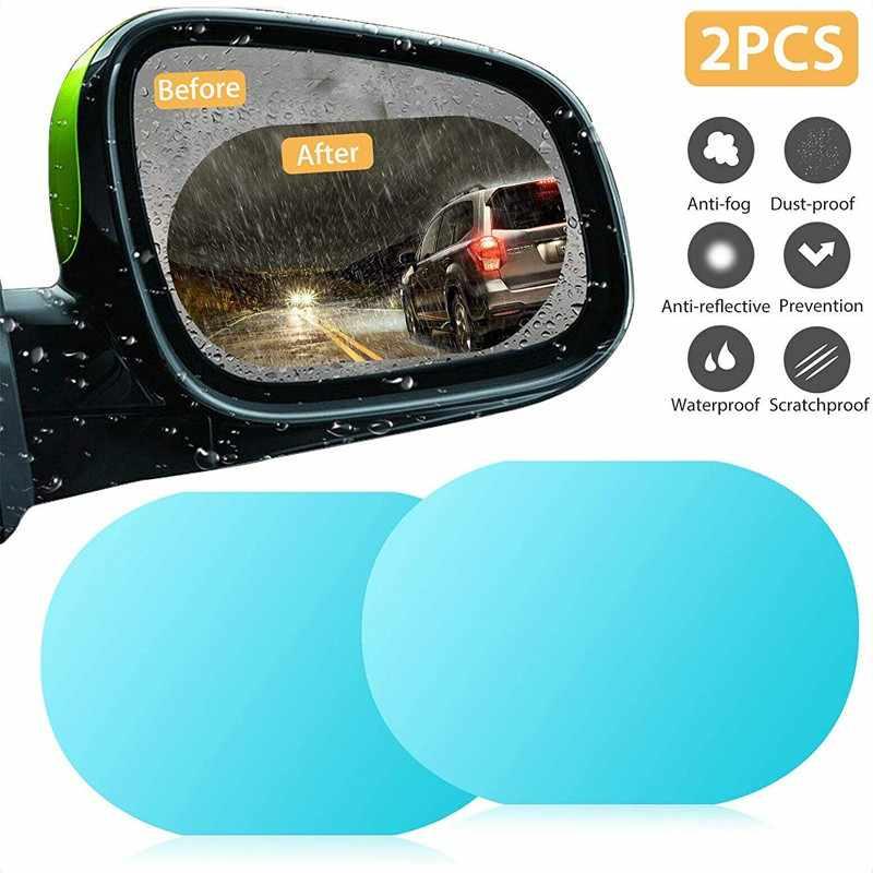 2PCS Car Rearview Mirror Film Rainproof Anti-Fog Waterproof Protective Sticker