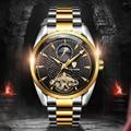 Мужские часы лучший бренд класса люкс TEVISE с автоматическим подзаводом Tourbillon механические часы спортивные военные часы из нержавеющей стал...