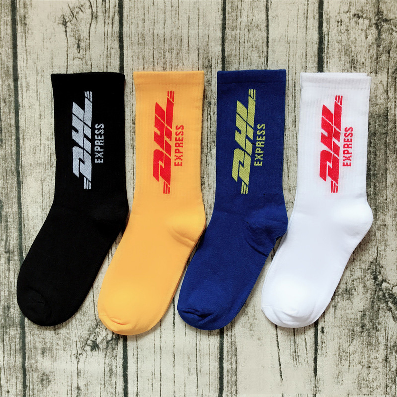 Hot Mens Crew DHL Express Hip Hop Socks Vetements Style Letter Print Hipster Men Woman Fashion Sock Skaterboard Streetwear