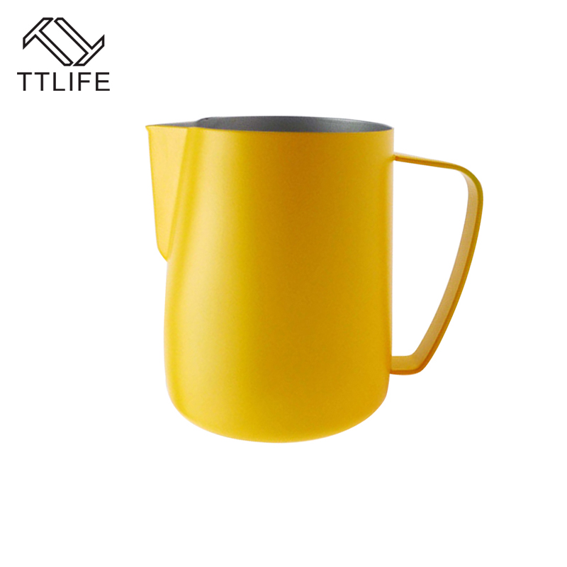 0.3-0.6L Frothing Pitcher Pull Flower Cup Coffee Mug Milk Jug Frother Latte Art Milk Foam Tool Coffeware