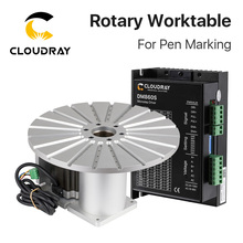 Cloudray Rotary Device Diameter 300mm 20 Pen Slots Rotary Worktable + Driver for Fiber Laser Marking Machine DIY Pen Gift