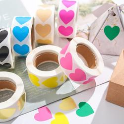 500 PCs/Roll Love Heart Round Shaped Sticker Scrapbooking Package Gift Packaging Seal Labels Birthday Party Supply Stationery