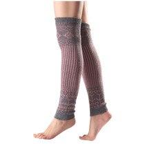 Женские носки разных цветов, шерстяные длинные носки выше колен, вязаные носки с защитой для ботинок, гетры, гольфы до колена