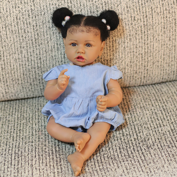 "Sudoll 22 ""muñeca Reborn bebé cuerpo completo vinilo silicona niña recién nacida baño impermeable anatómico correcto juguetes afroamericano Tan"
