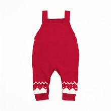 Xmas Deer Clothes Knitted Casual Romper Jumpsuit Outfit Christmas Costume Set